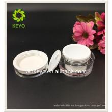 30g tarro plástico cosmético vacío claro más vendido