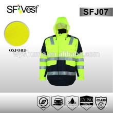 EN ISO 20471:2013 CLASS 3 winter warm hi vis reflective jacket with high reflective tape