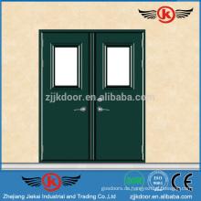 JK-F9008 Metall-Doppel-Feuer-Bewertung Stahl Türen Außen