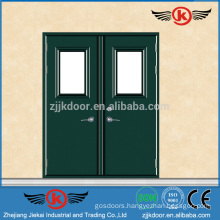 JK-F9008 Metal Double Fire Rated Steel Doors Exterior