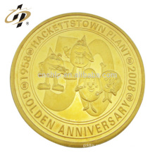 Nuevo diseño de su propio logotipo personalizado moneda de metal moneda de recuerdo de juguete con caja de acrílico