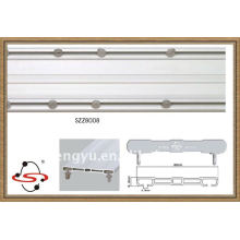 top sale rust free double curtain rail from china