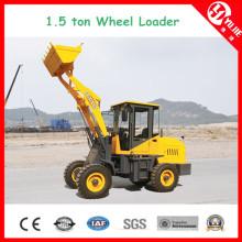 Zl15 1.5 hohe Leistungsfähigkeits-Tonnen-Rad-Ladevorrichtung mit Gabel (1500kg)