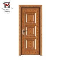 Fábrica que hace la puerta de entrada moderna de madera de acero aceptada de gama alta del OEM