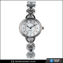 Fancy Silber Damen Stein Armband Uhr Quarz
