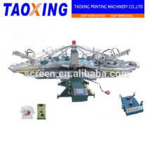 T-shirt printer automatic multi-color rotary screen press 12 color with flash dryers