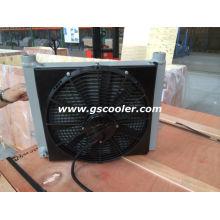 Refrigerador de óleo hidráulico com ventilador e cobertura