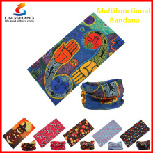 Máscara facial da moda Bandana multifuncional de sublimação sem costura