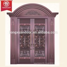 Commercial or Residential Bronze Door, Double-leaf Copper Door
