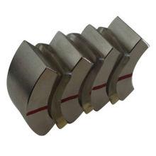 Imán cerámico del segmento del arco para el motor