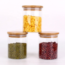 Kitchen Canisters 500ml Borosilicate Glass Food Storage Containers with Bamboo Lids