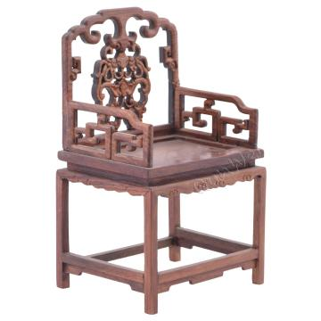 1/8 scale Chinese traditional old-fashioned wooden armchair
