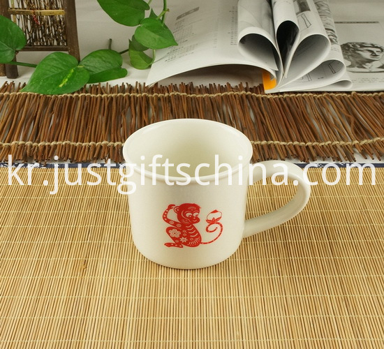 Promotional Printed White Color Ceramic Cup