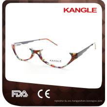 Vidrios ópticos del acetato del borde del medio gafas de la señora mayor, anteojos del acetato