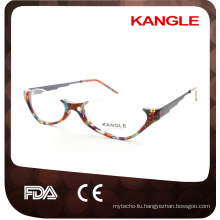 Old Lady reading glasses half rim acetate optical glasses, acetate eyeglasses