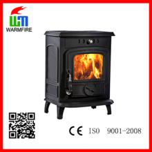 CE Classic WM701A, chimenea decorativa independiente de madera de hierro fundido