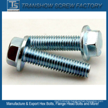 M10X35 Galvanized Steel Hex Bolt with Flange