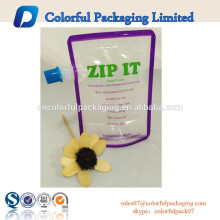 2015 hot sale Reusable food pouches, ideal portable, dishwasher and freezer safe, dual-zipper