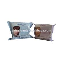 Lenços umedecidos para remoção de maquiagem confortável para a pele