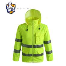 hi-vis safety workwear jacket with reflective tape /waterproof jacket