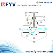 Válvula de parada da válvula do globo de vedação do tipo Y