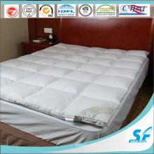 Duck Down Pluma cuadrada almohadillado acolchado colchón topper para el hotel