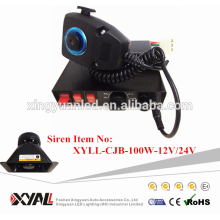 100w wireless remote control auto car siren speaker be used togather for light bars