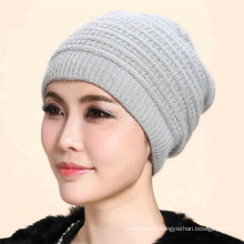 Wholesale beanie hats cashmere/merimo wool fabric knitted beanie