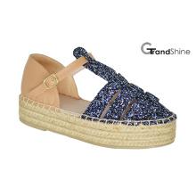 Sandales à lustre en espadrilles