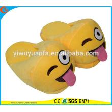 Hot Sell Novelty Design Silhueta impertinente Emoji Slipper