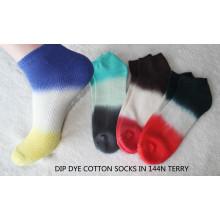 Calcetines de tobillo de teñido DIP para hombre