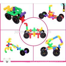 2015 item novo Desenvolver inteligência brinquedo educacional Pipeline carro blocos de construção para crianças