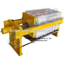 Prensa de filtro Leo Pequeña prensa de prueba hidráulica Prensa de filtro, filtro de tamaño pequeño Prensa de prensa filtro Leo