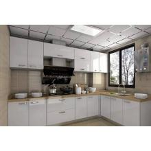 Exportar para o mercado australiano branco alto brilhante 2 pack armário de cozinha lacada