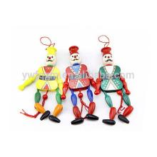 clown en bois tirer jouet mini démodé mini-poupées