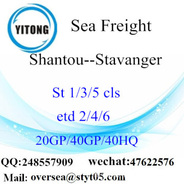 Shantou Port Sea Freight Shipping To Stavanger