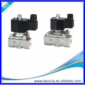 Válvula solenoide de fluido de acero inoxidable normalmente cerrada 2S200-20