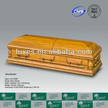 Caixão de estilo americano de caixão de pinho cremação