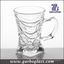 Tasse de thé en verre 3 oz avec poignée (GB090703ZL)