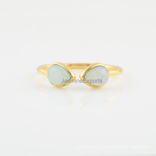 Handmade Aqua Chalcedony 925 Silver Ring Wholesale Supplier