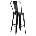 Restaurant Metal Tolix Arm Bar Chair High Back