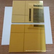 Panneau composite en or miroir en aluminium