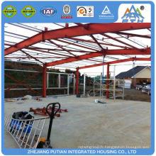 Bâtiment d'entrepôt en acier certifié de style américain préfabriqué