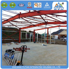 Prefabricated american style certificated steel warehouse building