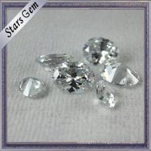 Diamant brillant ovale blanc brillant coupé zircon cubique pour les bijoux