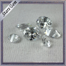Oval Clear White Brilliant Diamond Cut Cubic Zirconia for Jewelry