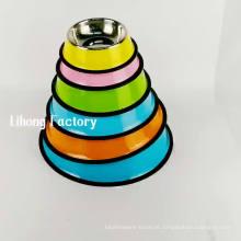 cor amigável eco revestido de aço inoxidável cão pet food bowl
