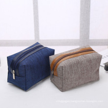 Waterproof PU and polyester wash bag  travel toiletry pouch bag daily cosmetic bag