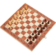 Soem-hohe Qualität, die magnetisches hölzernes Schach-Satz-Brettspiel faltet