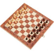 Jeu de plateau de jeu d'échecs en bois magnétique pliant de haute qualité OEM
